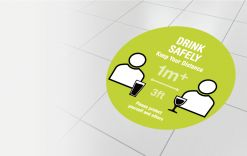 1 metre  - Drink safely gallery image