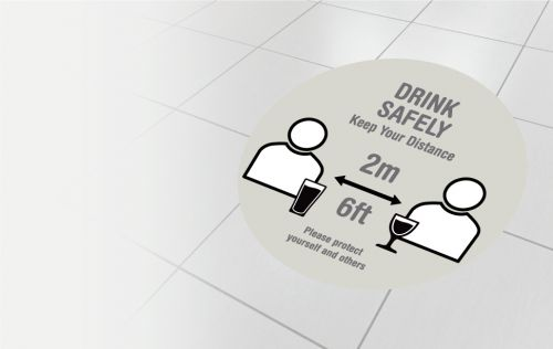 Drink safely - 2 metres
