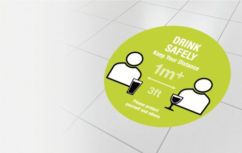 Drink safely - 1 metre
