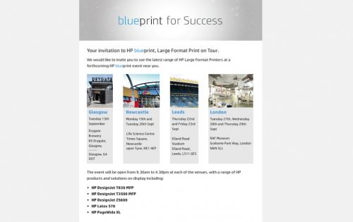 Register now for free admission to the HP Large format tour