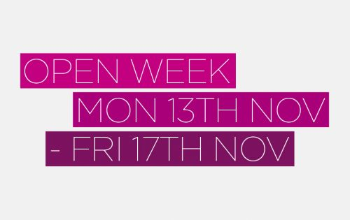Entwistle Open Week  13th - 17th November Registration
