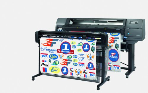HP latex print and cut system