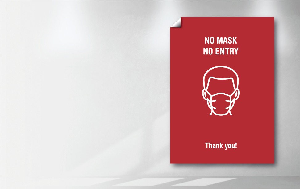 Poster - No Entry without Mask